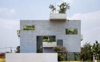 Cận cảnh ngôi nhà là giải pháp hoàn hảo cho những ngôi nhà phố muốn gần gũi với thiên nhiên xanh
