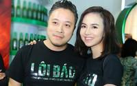 Vợ chồng Đinh Ngọc Diệp - Victor Vũ mặc ton-sur-ton đi sự kiện