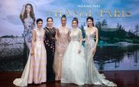 Dàn Hoa hậu lộng lẫy đi xem show thời trang của NTK Hoàng Hải
