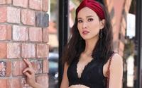 Dương Mỹ Linh diện áo bra gợi cảm dạo phố Mỹ