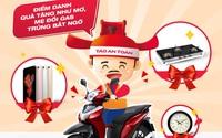 Totalgaz tặng xe sh mode cho người dùng gas may mắn