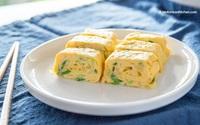 10 phút làm món trứng cuộn phô mai ngon mê mẩn