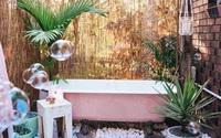 Nhà tắm ngoài trời, cách đơn giản để mang thiên đường vào không gian sống