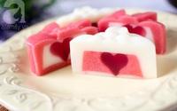 Không cần lò nướng, làm bánh Trung thu rau câu trái tim siêu đẹp siêu ngon