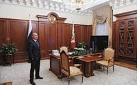 Phòng làm việc bí mật của Tổng thống Putin trong điện Kremlin lần đầu được hé lộ
