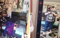 Để phòng như bãi rác, không bao giờ dọn giường, cô nàng 24 tuổi bị mẹ trị bằng