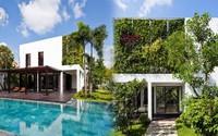 Thay tường thô cứng bằng vườn treo, biệt thự Việt đẹp ngỡ như ở trời Tây