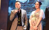Mang thai ở tháng thứ 9, Đinh Ngọc Diệp vẫn cùng chồng dự ra mắt phim