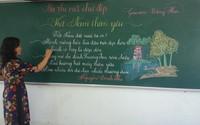 """Trầm trồ trước chữ viết """"đẹp như tranh"""" của các giáo viên tiểu học"""