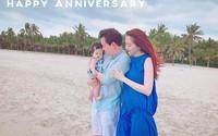 Kỷ niệm 1 năm ngày cưới, Hoa hậu Thu Thảo khoe chồng đẹp, con ngoan