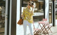 Quần jeans trắng: Kiểu quần mà chị em cứ diện lên sẽ trẻ trung và nữ tính hơn bội phần