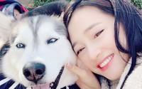 Đăng ảnh chụp cùng cún cưng nhưng khuôn mặt của Nhã Phương lại khiến dân tình chú ý hơn cả