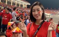 Hoa hậu Đỗ Mỹ Linh khóc khi Việt Nam vào chung kết AFF Cup