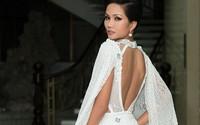 Hoa hậu H'Hen Niê mặc váy hở lưng trong sự kiện ở Lâm Đồng