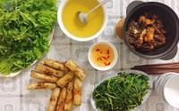 Thực đơn cơm tối cả tuần của cô nàng 8X thích nấu ăn từ khi lấy chồng