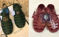 Mẫu sandal mới của Gucci giống hệt dép