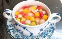 Cách nấu chè hoa quả trân châu dẻo thanh mát