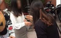 Hà Nội: Cô gái bị đập IPhone, đánh ghen giữa phố vì cặp kè với người đã có gia đình
