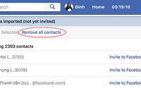 Cách xoá danh bạ điện thoại trên Facebook