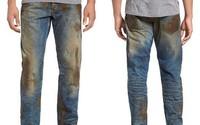 Mẫu quần jeans lấm lem bùn đất phong cách thợ hồ giá gần 10 triệu đồng