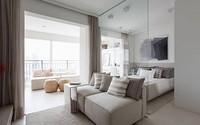 Căn hộ 35 m2 có mọi phòng đều rộng nhờ dùng nhiều kính