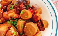 Nấu thịt kho củ cải muối béo ngậy, thơm ngon