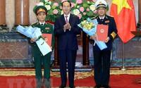 Trao quyết định thăng quân hàm cho các sĩ quan quân đội cấp cao