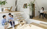 Ngôi nhà phố 43m² đẹp thanh bình với sân vườn xanh mát cây cỏ của gia đình trẻ ở ngay thủ đô