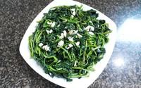 Cách làm món rau muống xào tỏi thơm ngon xanh giòn