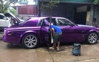 Xuất hiện chiếc Rolls-Royce màu tím thủy chung độc đáo trên phố Hà Nội