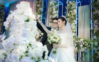 Bố chồng khen Á hậu Tú Anh xinh đẹp trong hôn lễ long trọng