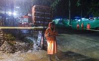 Mưa lớn tại khu vực đội bóng nhí Thái Lan mắc kẹt