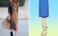 8 kiểu chân váy chị em ưa chuộng sẽ trở nên hoàn hảo với những mẹo kết hợp giày dép đơn giản
