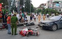 Nữ tài xế BMW gây tai nạn liên hoàn, kéo lê một cháu nhỏ