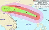 Siêu bão Mangkhut đã vào Biển Đông với sức gió hơn 180 km/h