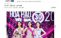 Hoa hậu Trần Tiểu Vy được báo chí Trung Quốc khen ngợi hết lời