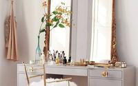 Khéo đặt gương trang điểm giúp phòng ngủ ngọt ngào và sang trọng như một giấc mơ