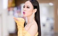 Angela Phương Trinh mặc váy xẻ quá hông đi sự kiện