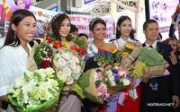 H'Hen Niê cùng hai Á hậu được chào đón nồng nhiệt khi về đến TP HCM