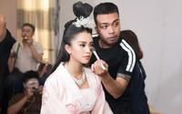 Hoa hậu Tiểu Vy gặp sự cố, ngã lăn trên sân khấu Táo Quân