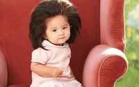 Bé gái Nhật 1 tuổi gây bão mạng với mái tóc 'bờm sư tử'