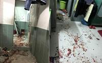Gần 20 người đi ô tô lao vào phòng trọ chém 4 người bị thương nặng