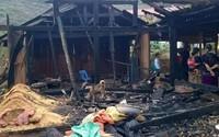Điện Biên: Đang ở cùng 5 con nhỏ, vợ bị chồng tẩm xăng đốt tử vong