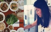Tăng Thanh Hà, Ngọc Lan khoe bữa cơm, mâm cúng ông bà 30 Tết