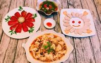 Bữa tối chỉ trong 30 phút mà các con khen mẹ nấu vừa đẹp vừa ngon