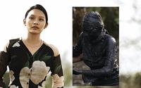 """""""Thiên Linh Cái"""" tung poster gây rợn người với gương mặt Thanh Tú kín bùn đầy ám ảnh"""