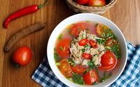 Canh ngao nấu me chua thanh mát