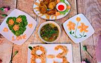 Mang không khí 8/3 vào bữa cơm thường nhật thật dễ dàng với thực đơn giản dị