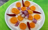 Dưa củ ngâm chua ngọt - món ăn giải ngấy sau kỳ nghỉ lễ