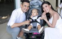 Thúy Diễm - Lương Thế Thành lần đầu bế con đi sự kiện